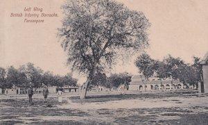 Left Wing British Infantry Barracks Ferozepore Indian Postcard