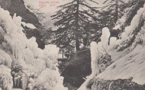 Gigantic Icicles In Simla Disaster Weather Antique Indian Postcard