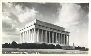 Lincoln Memorial Washington D.C. Real Photo