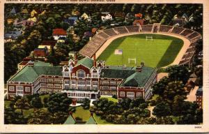 Ohio Toledo Aerial View Of Scott High School and Bowl 1941