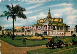 Postcard Modern room Chanchhaya Royal Palace Phnom Penh Cambodia