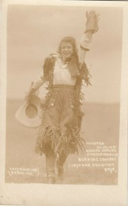 CHEYENNE , Wyoming , 1918 ; Female Rodeo World Champion Mildred Douglas