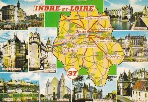 Map Of Indre Et Loire France Multi View