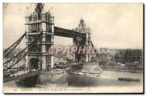 Old Postcard The London Tower Bridge