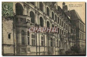 Old Postcard Chateau De Blois View of the Facade Francois 1er
