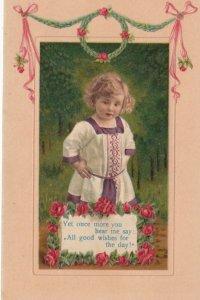 Child & Flowers , 1909
