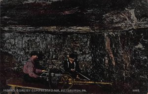 Mining Coal By Compressed Air, Pittsburgh, Pennsylvania, Early Postcard, Unused