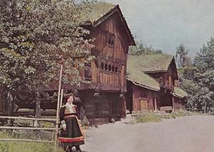 Setesdal Farm Farming House Uniform Fashion Oslo Norway Norwegian Photo Postcard