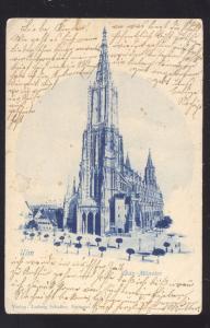 ULM GERMANY DAS MUNSTER 1904 KIRCHE ANTIQUE VINTAGE POSTCARD