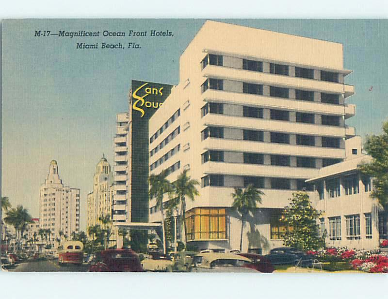 Linen Old Cars Sans Souci Hotel Miami Beach Florida Fl J5846
