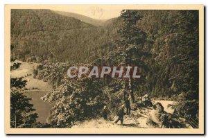 Old Postcard Lake Retournemer Vosges saw the Devil's Rock