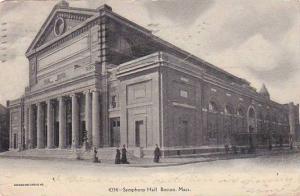 Massachusetts Boston Sypmphony Hall 1907