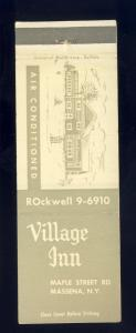 Massena, New York/NY Matchcover, Village Inn Restaurant