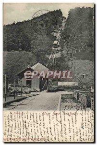 Mont Dore baisn Old Postcard Funicular