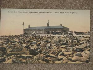 Summit of Pikes Peak Auto Summit House, Pikes Peak Auto Highway-Hand Colored