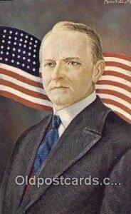 Calvin Coolidge - President Artist Morris Katz Unused