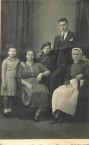 Romania social history romanian military family studio Bucharest photo postcard