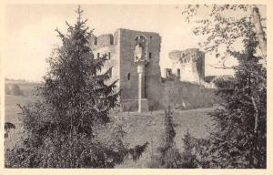 Czech Slovakia Krakovce Castle Ruins Scenic View Antique Postcard J77520