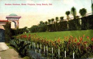 California Long Beach Hotel Virginia Sunken Gardens 1913