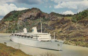 Panama Canal , 50-60s ; Swedish American Ocean Liner