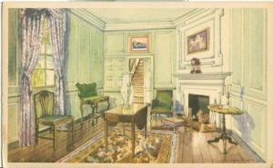Martha Washington's Sitting Room, Mount Vernon, VA, 1934 ...