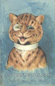 Artist Louis Wain Cat 1906 light wear left bottom corner, postal used 1906