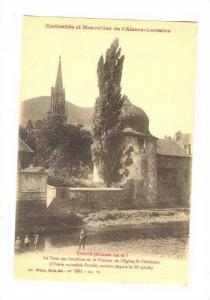 La Tour Des Sorcieres Et Le Clocher De l'Eglise St-Thiebault, Thann (Haut-Rhi...