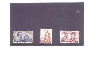 Four Different Used Australia Explorer Stamps