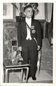 jordan, King Hussein bin Talal, Medals (1950s) RPPC