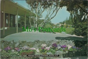 New Zealand Postcard - Marine Parade Gardens, Napier  RR10965