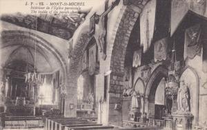 Mont Saint-Michel , France , 00-10s ; Interieur de l'Eglise paroissiale
