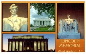 1980's The Lincoln Memorial Four Views Washington D.C. PC1982