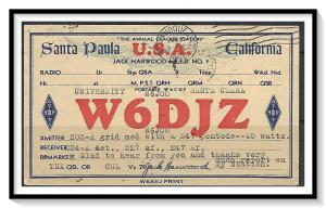 California, Santa Paula QSL Ham Radio The Animal Cracker Station - (MX-012)