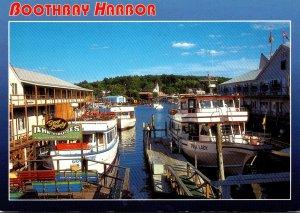 Maine Boothbay Harbor Docks Scene
