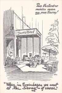 COPENHAGEN, Denmark, 1940-1960's; Savoy Hotel