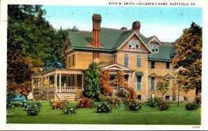 Pennsylvania Sheffield Ruth M Smith Children's Home Curteich