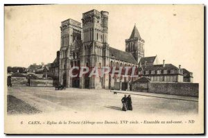 Old Postcard Caen Church of the Trinity in the southwest Together