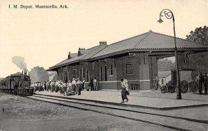 Monticello Arkansas Railroad Depot Train Vintage Postcard KK458