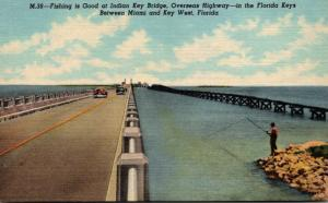 Florida Keys Fishing At Indian Key Bridge Along The Overseas Highway Curteich