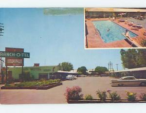 Pre-1980 OLD CARS & RANCH-0–TEL MOTEL Fresno California CA M2548