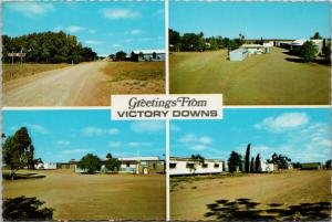 Victory Downs Motel South Australia Multiview UNUSED Vintage Postcard D59