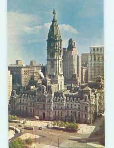 Unused Pre-1980 CITY HALL SCENE Philadelphia Pennsylvania PA hs5824