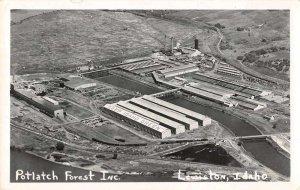 Lewiston Idaho Potlatch Forest Inc Real Photo Vintage Postcard AA31480