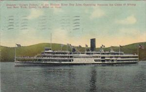 Hudson River Day Line Steamer Robert Fulton Between Albany and New York 1911