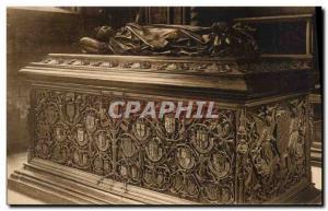 Bruges Old Postcard Tomb of Mary of Burgundy