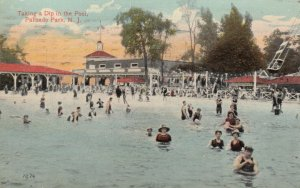 PALISADE PARK , New Jersey , 1916 ; Taking a Dip in the Swimming Pool