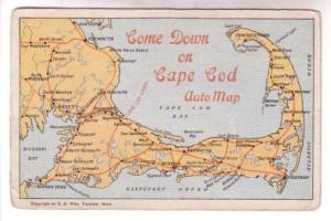 Auto Map Come Down on Cape Cod, Massachusetts, ED West, HA Dickerman & Son