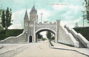 Quebec City Quebec~St Louis Gate~Stairs Up to Top~Castle Turrets~1905