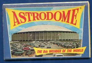 The Astrodome Houston Texas chrome postcard folder