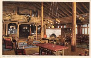 E2/ Grand Canyon National Park Interior Arizona Postcard El Tovar Hotel 2